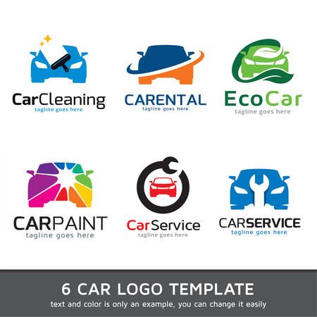 logo informatique: Logo de voitures Template Design Vector