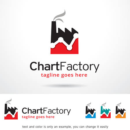 factory: Chart Factory Logo Template Design Vector