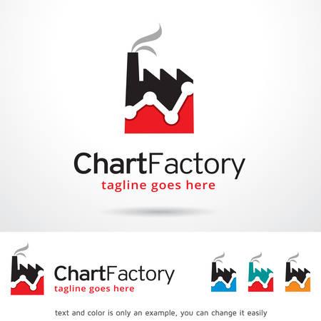 Chart Factory Logo Template Design Vector