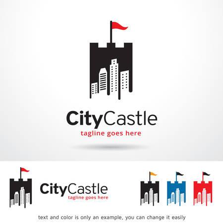 brand activity: City Castle Logo Template Design Vector Illustration