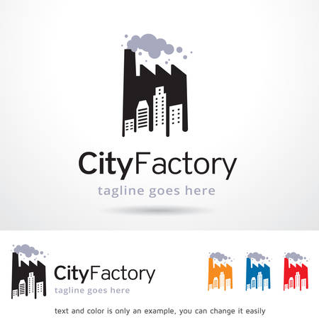 brand activity: City Factory Logo Template Design Vector
