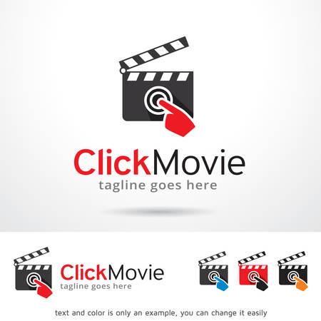 cine: Haga clic en logotipo de la pel�cula plantilla de dise�o vectorial Vectores
