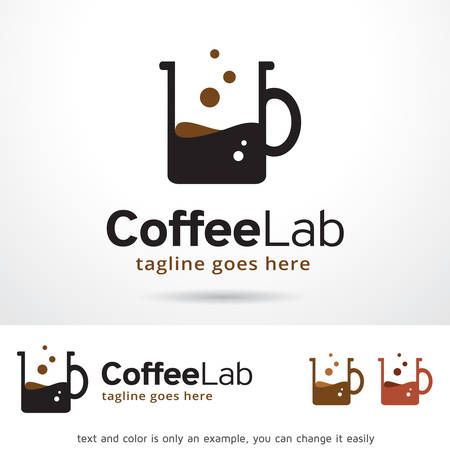 Coffee Lab Logo Template Design Vector Illustration