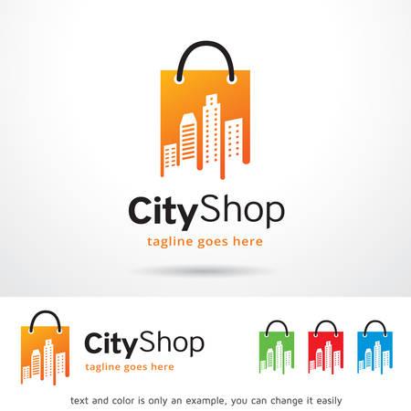brand activity: City Shop Logo Template Design Vector