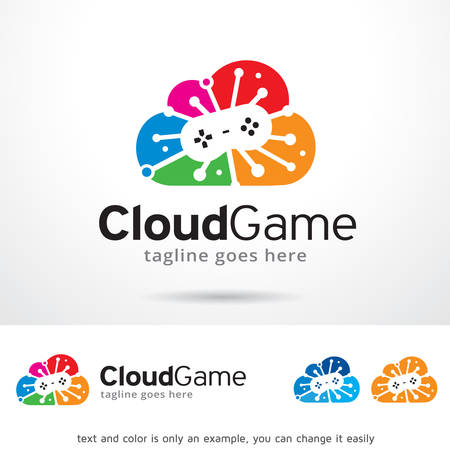 Cloud Game Logo Template Design Vector