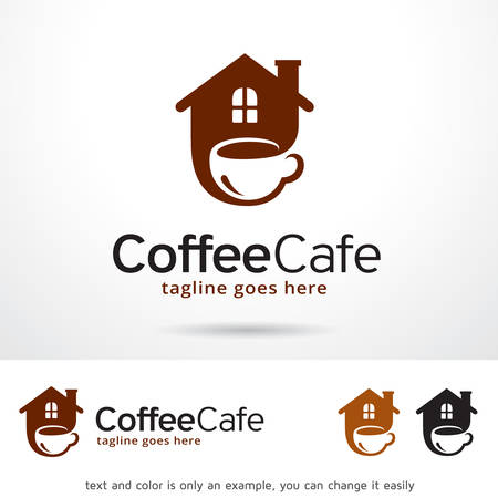 Coffee Cafe Logo Template Design Vector