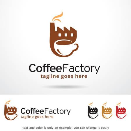 coffee beans: Coffee Factory Logo Template Design Vector