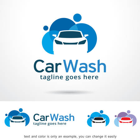 car wash: Car Wash  Template Design Vector