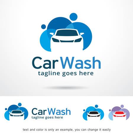 car wash: Car Wash  Template Design Vector