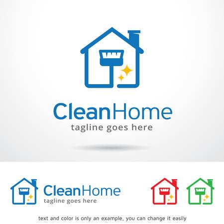 clean home: Clean Home  Template Design Vector