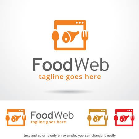 web template: Food Web  Template Design Vector