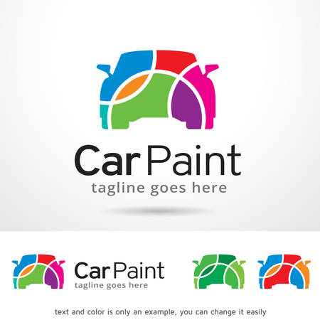 auto service: Car Paint Template Design Vector