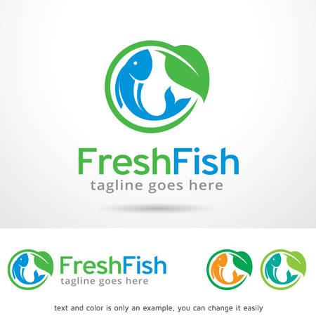 Fresh Fish  Template Design Vector