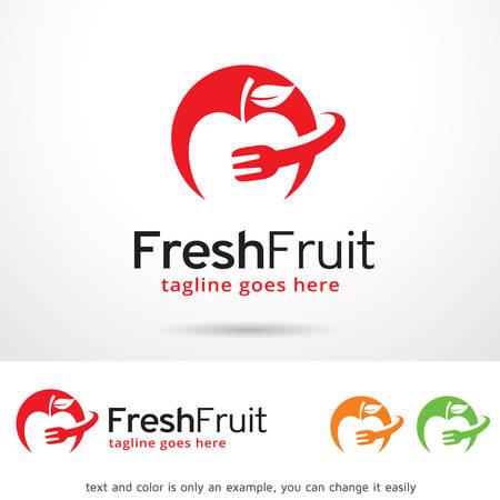 brand activity: Fresh Fruit  Template Design Vector Illustration