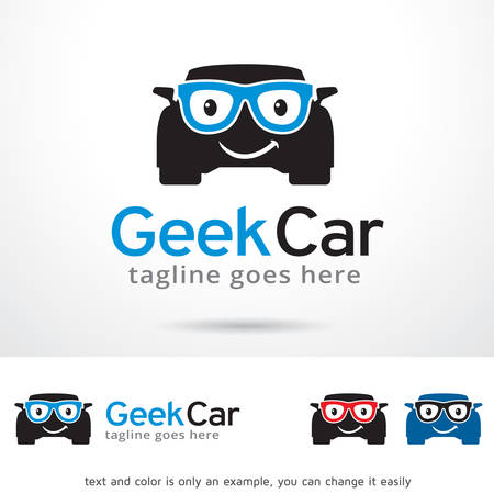 Geek Car Template Design Vector