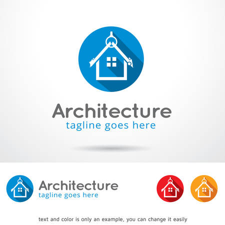 architecture design: Architecture Template Design Vector Illustration