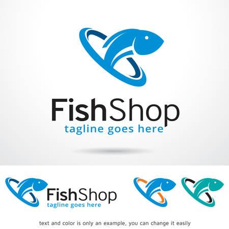 Fish Shop Vector Template Design Archivio Fotografico - 60568169
