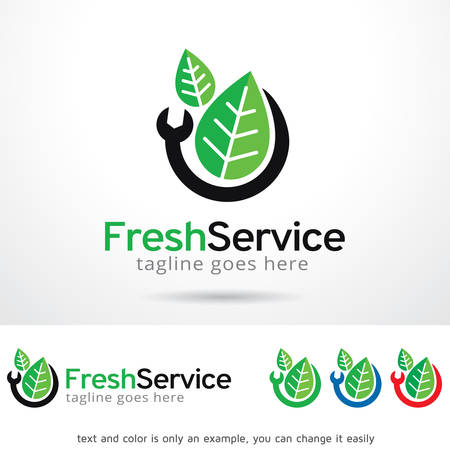 tree service business: Fresh Service Template Design Vector Illustration