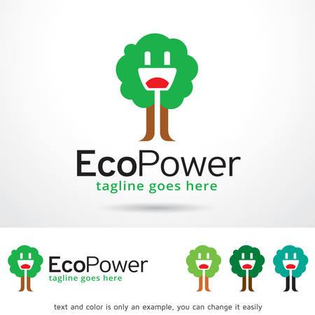 eco power: Eco Power Template Design Vector