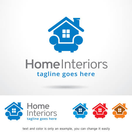 home design: Home Interiors Template Design Vector Illustration