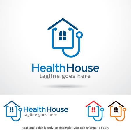 Health House Template Design Vector