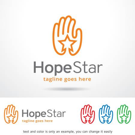 hopeful: Hope Star Template Design Vector Illustration