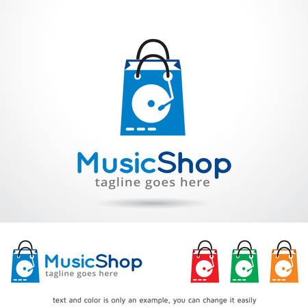 Music Shop Template Design Vector
