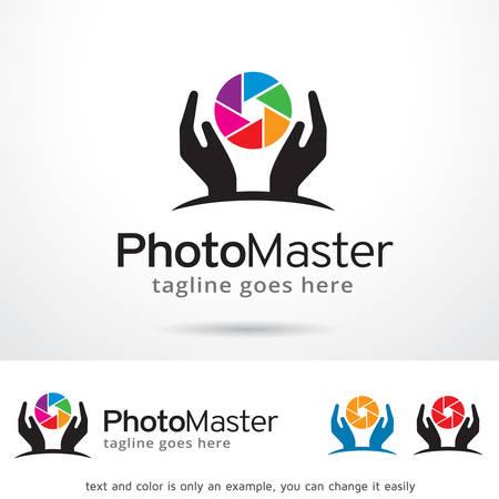 master: Photo Master Template Design Vector Illustration