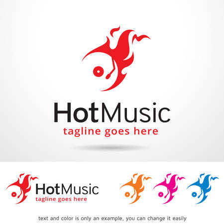Hot Music Template Design Vector