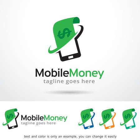 Mobile Money Template Design Vector