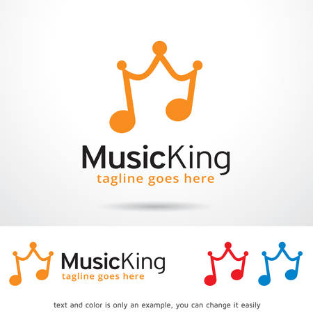 king master: Music King Template Design Vector Illustration
