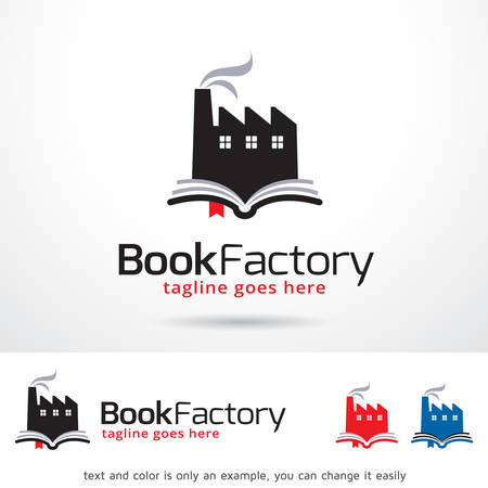 Book Factory Template Design Vector