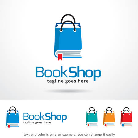 Book Shop  Template Design Vector Vectores