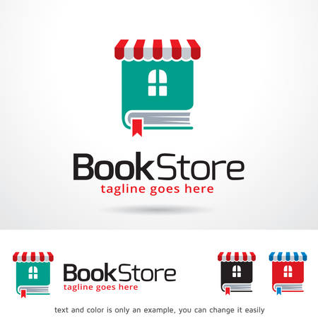 Book Store  Template Design Vector Vectores