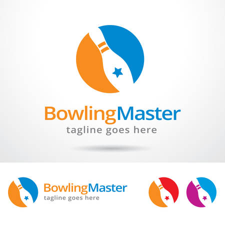 master: Bowling Master  Template Design Vector