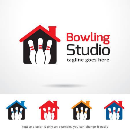 studio logo: Bowling Studio Logo Template Design Vector