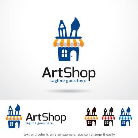 Art Shop Logo Template Ontwerp Vector