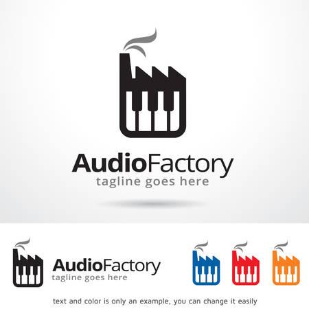Audio Factory Logo Template Design Vector