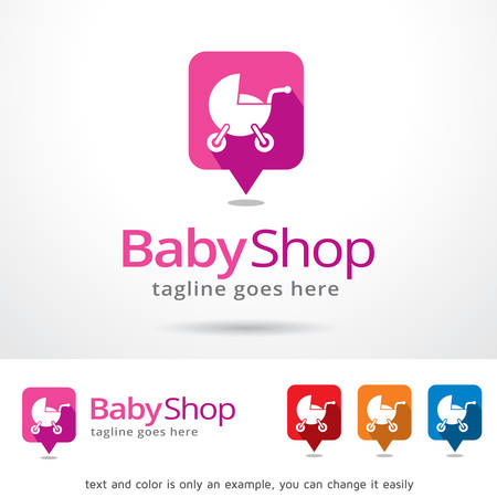 market place: Baby Shop Logo Template Design Vector Illustration