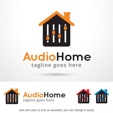 home audio: Audio Home Logo Template Design Vector