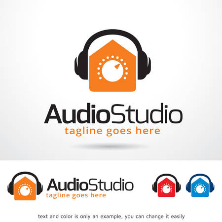 Audio Studio Logo Template Design Vector Illustration
