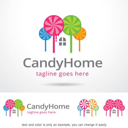 mobile application: Candy Home Template Design Vector Illustration