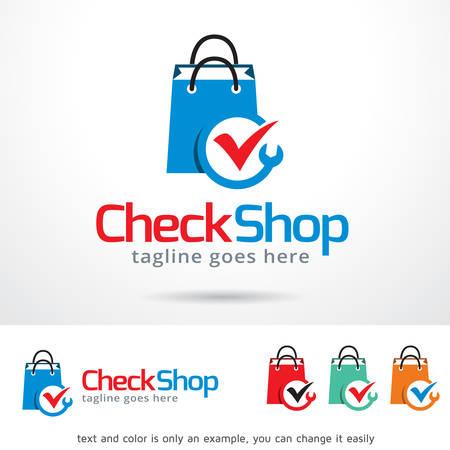 Check Shop Template Design Vector