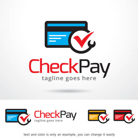 pay check: Check Pay Template Design Vector