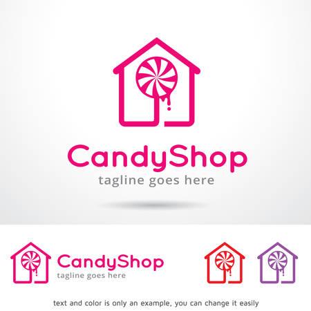 Candy Shop Template Design Vector