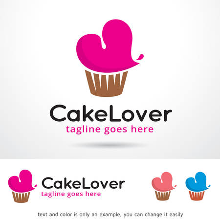 contemporary taste: Cake Lover Template Design Vector Illustration