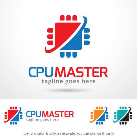 master: CPU Master Template Design Vector Illustration