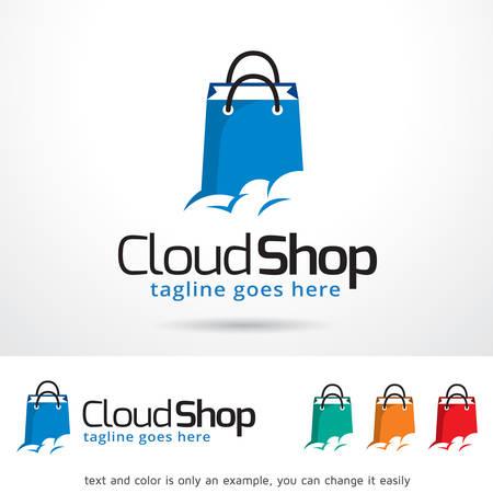 Cloud Shop Template Design Vector