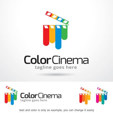 video edit: Color Cinema Template Design Vector
