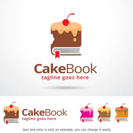 Cake Book Template Design Vector